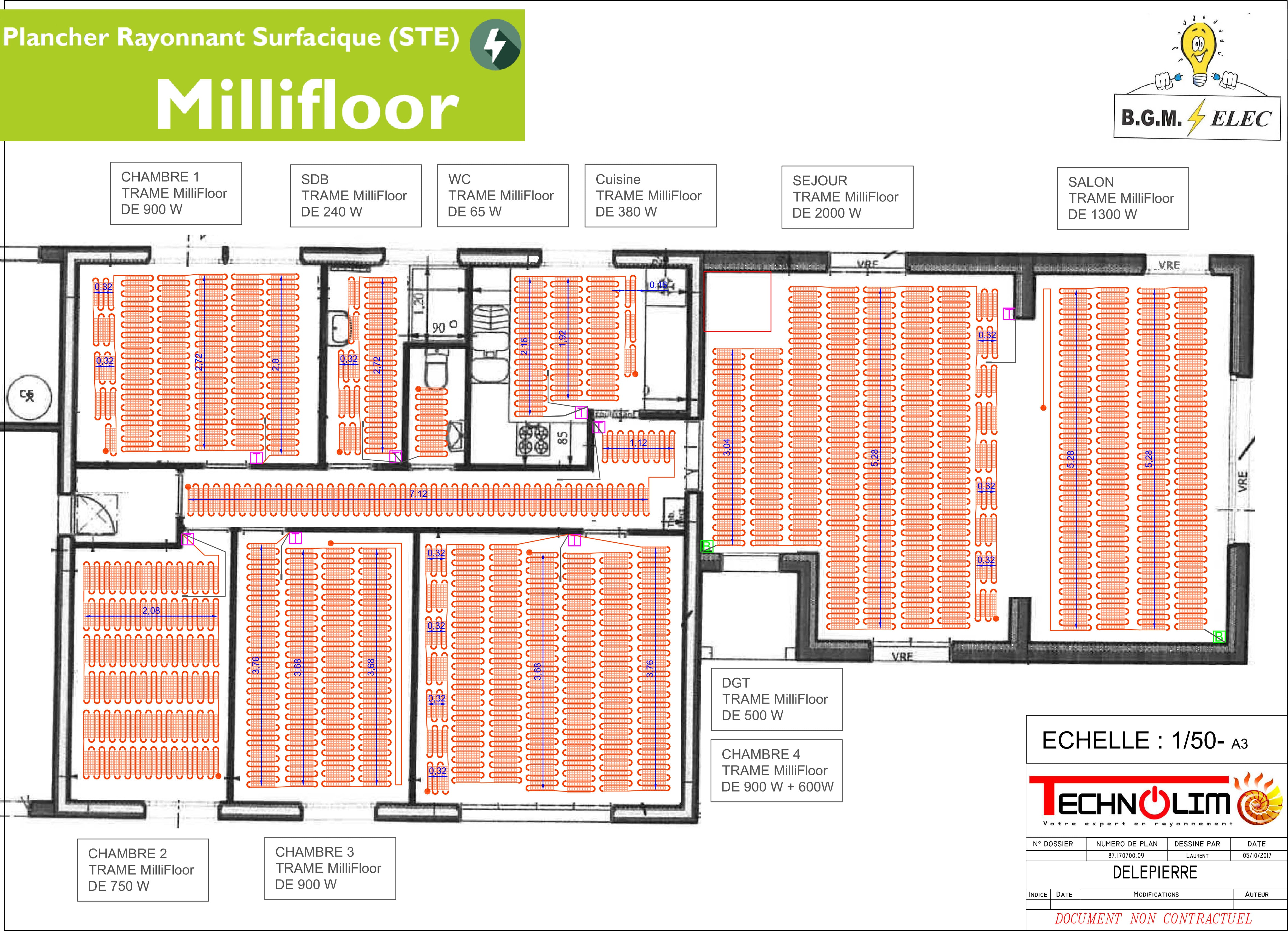 MilliFloor, Le plancher chauffant / rafraîchissant de la société Technolim à Limoges, spécialiste en chaleur rayonnante