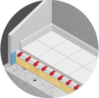 Raysol plancher chauffant hydraulique sous revêtement carrelage