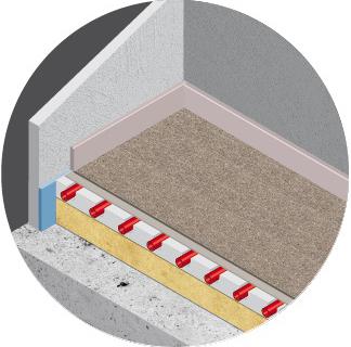 Raysol plancher chauffant hydraulique sous revêtement moquette