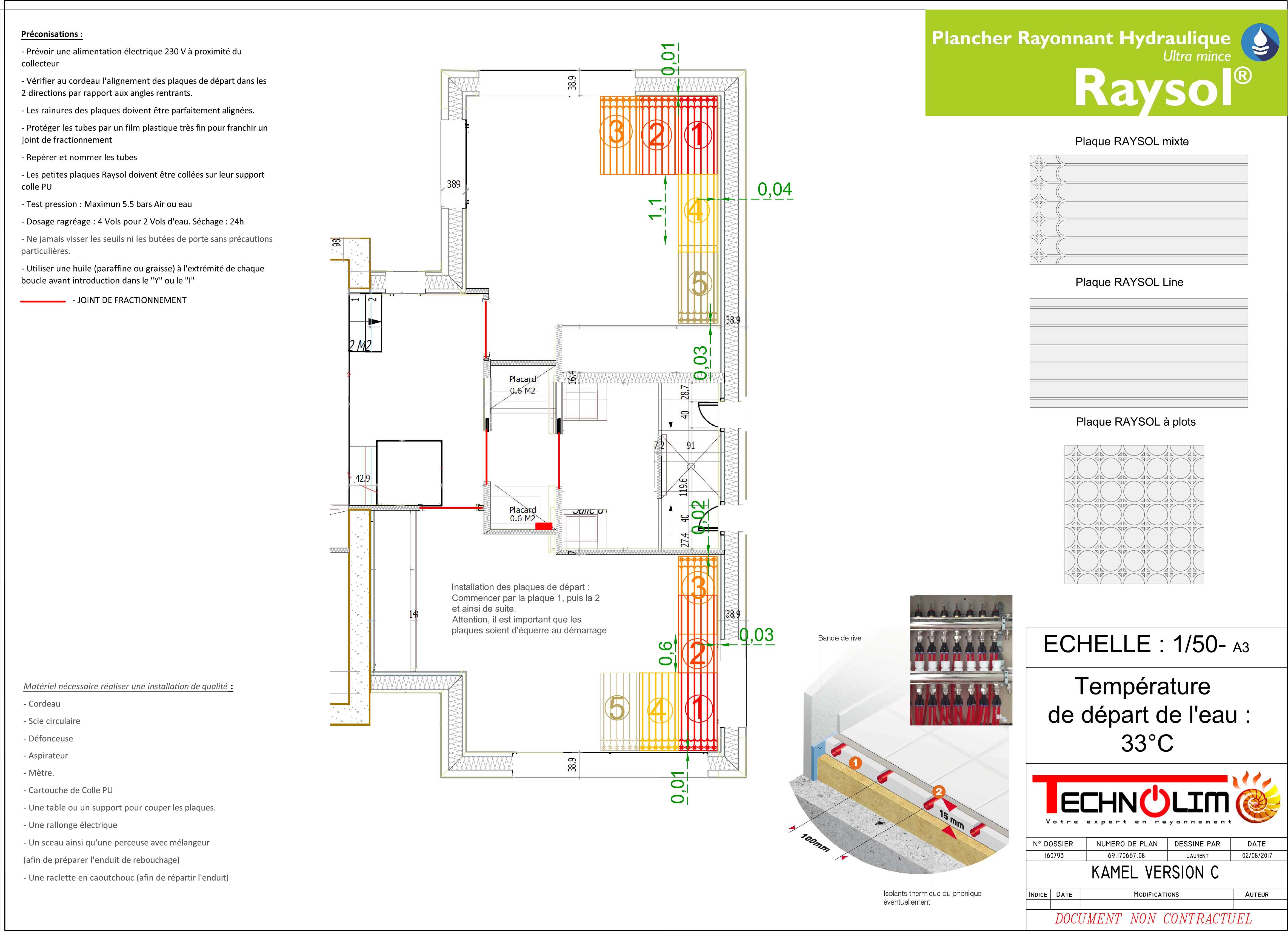 RaySol, Le plancher chauffant / rafraîchissant de la société Technolim à Limoges, spécialiste en chaleur rayonnante
