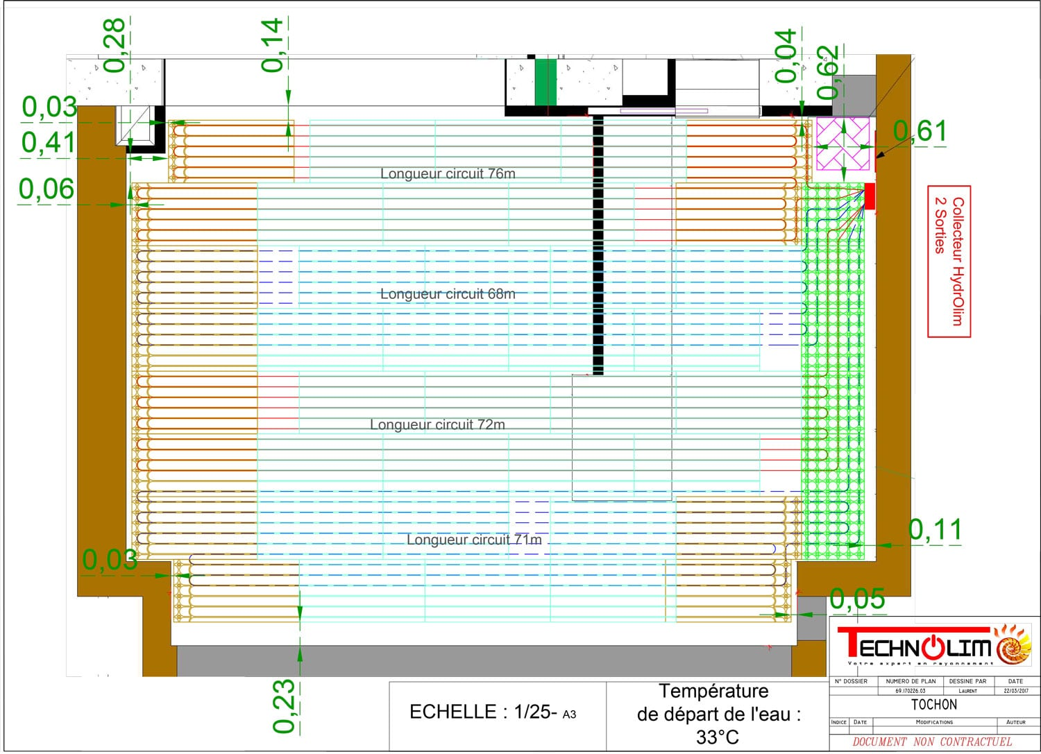 RayTop, plafond chauffant hydraulique de la société Technolim à Limoges, spécialiste en chaleur rayonnante
